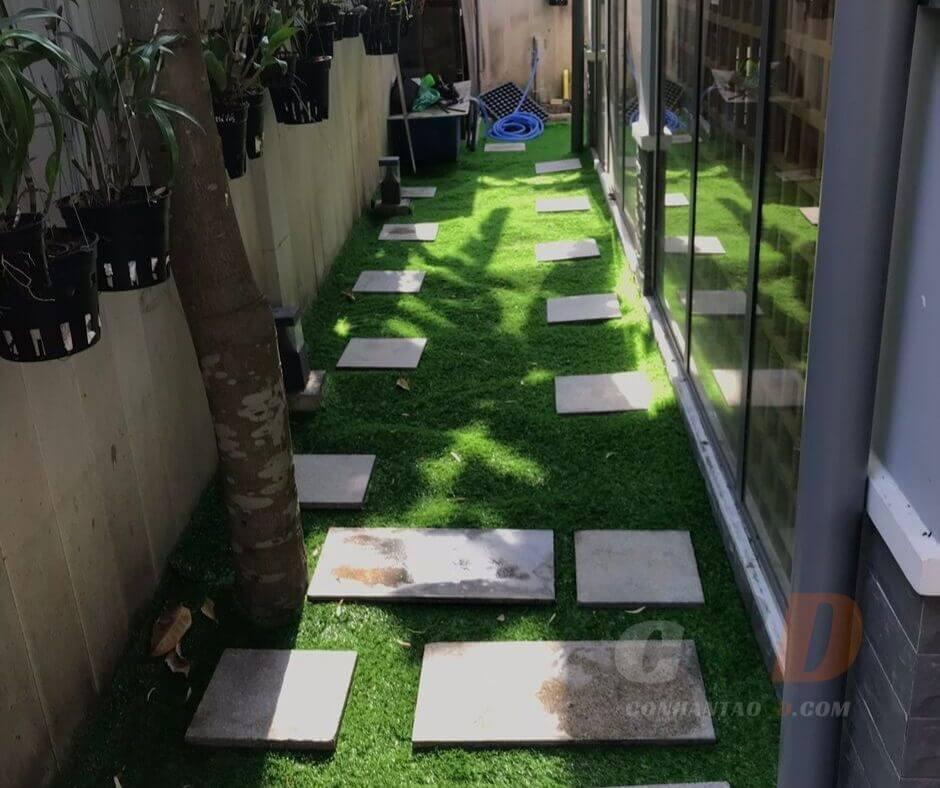 thảm cỏ nhân tạo giá rẻ 3cm trang trí lối đi
