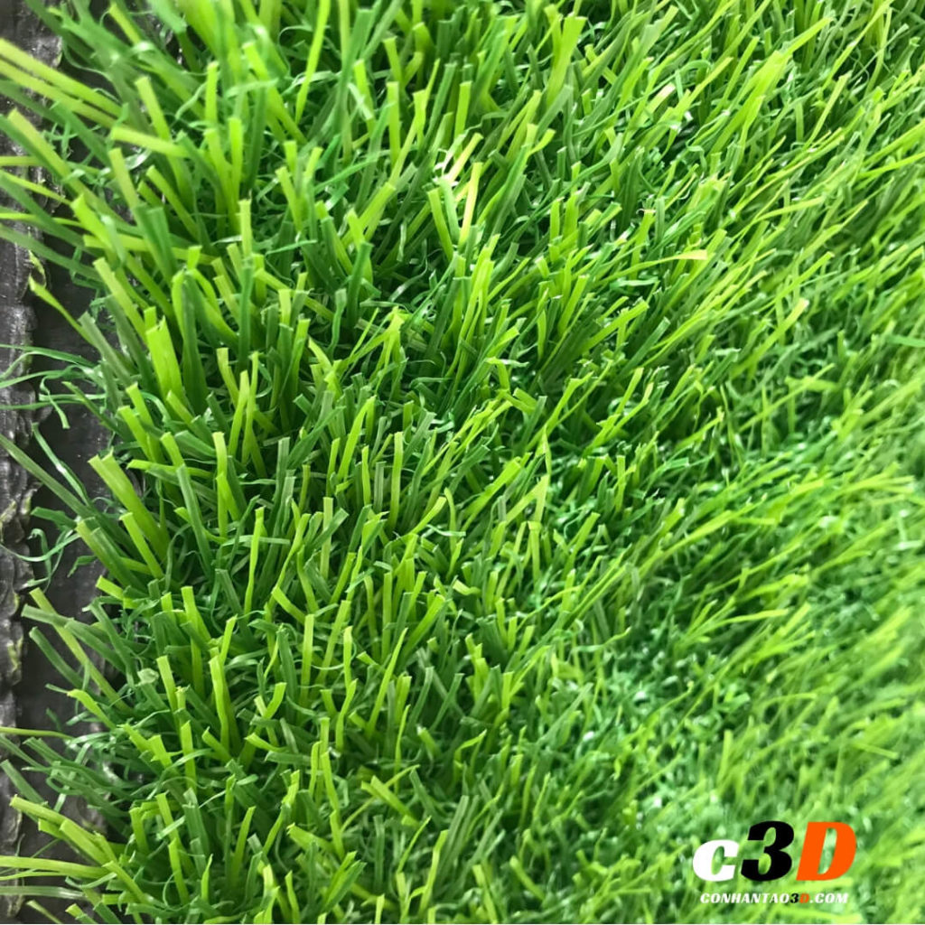 thảm cỏ nhân tạo sân vườn D30 - mặt trước