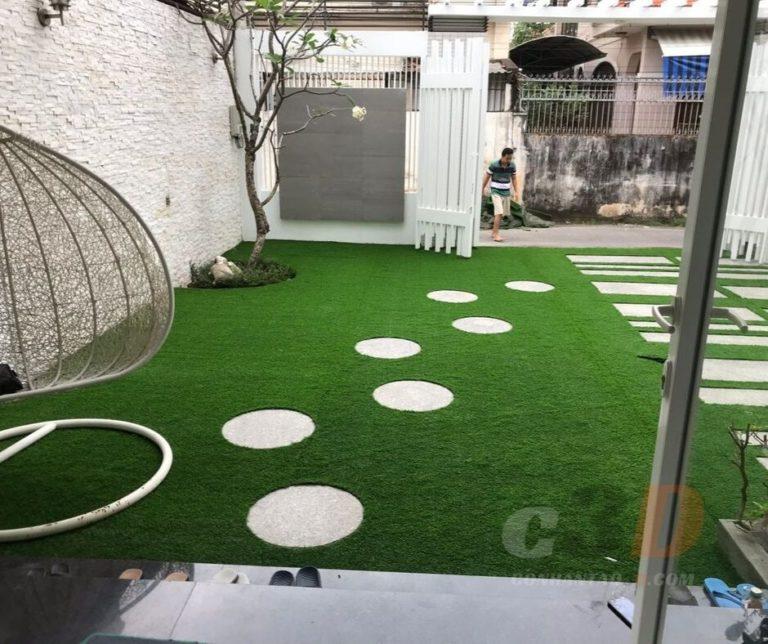 Thảm cỏ nhân tạo sân vườn tại Bình Dương