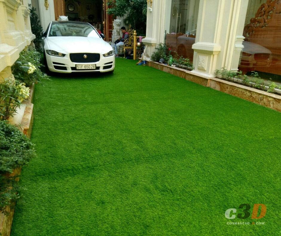 thảm cỏ giả sân vườn đẹp