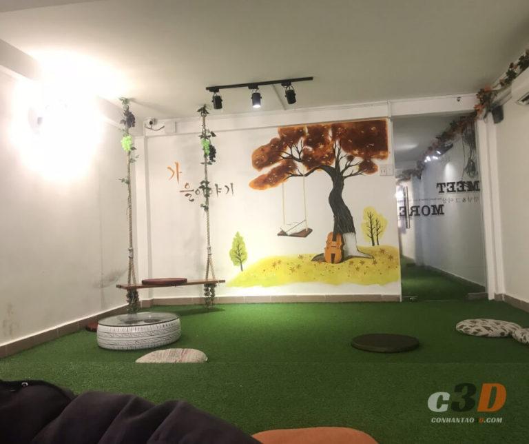thảm cỏ nhân tạo trong nhà trải sàn