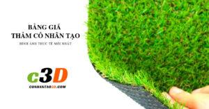 Bảng giá cỏ nhân tạo sân vườn cover