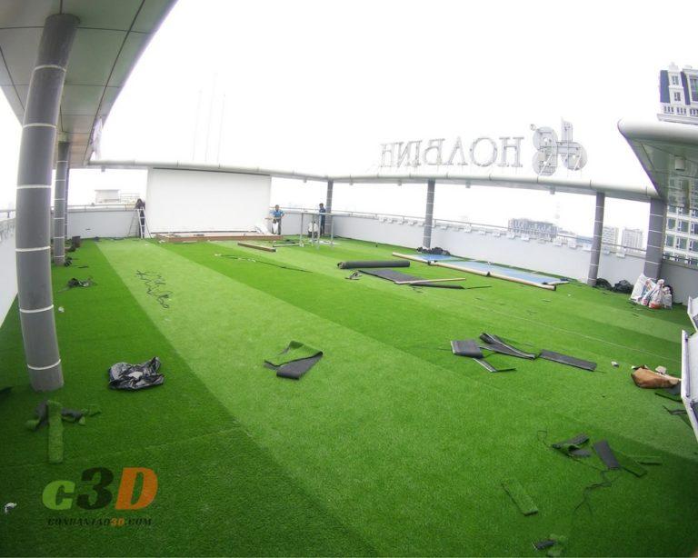 Thảm cỏ nhân tạo trải sân thượng