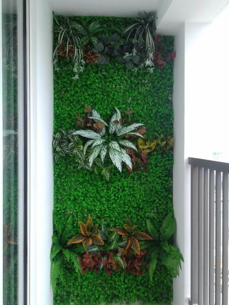 tường cỏ tai chuột điểm cành lá