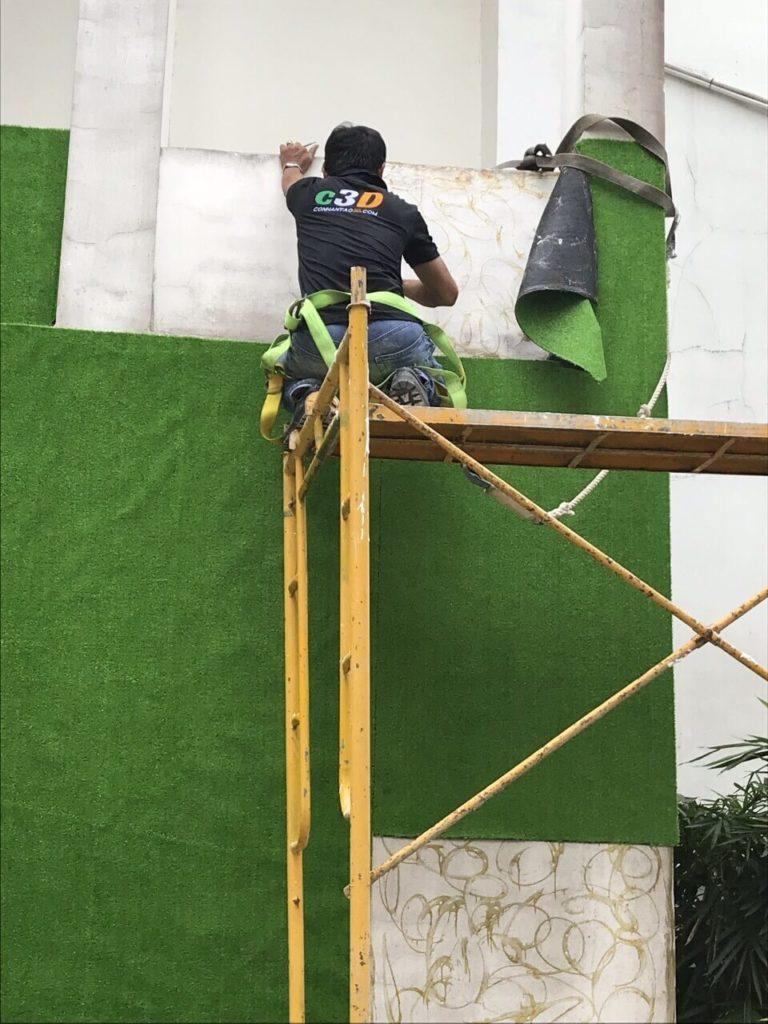 Thảm cỏ nhân tạo dán tường R1 tạiBiên Hoà