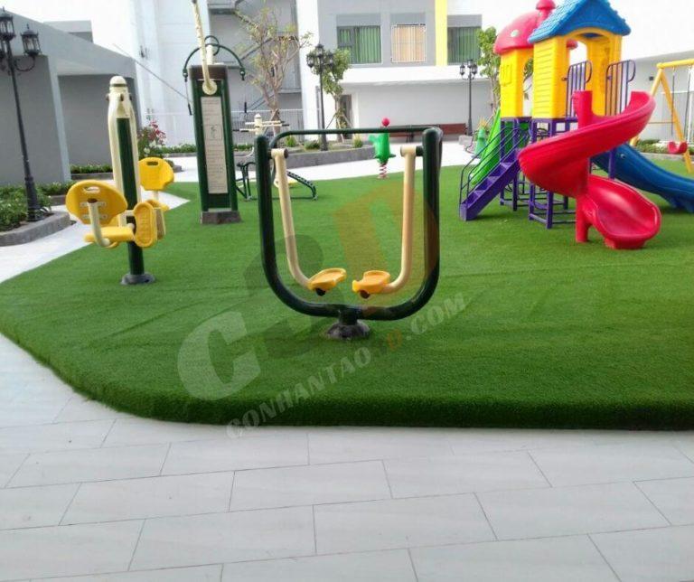 Thảm cỏ nhân tạo trường mầm non
