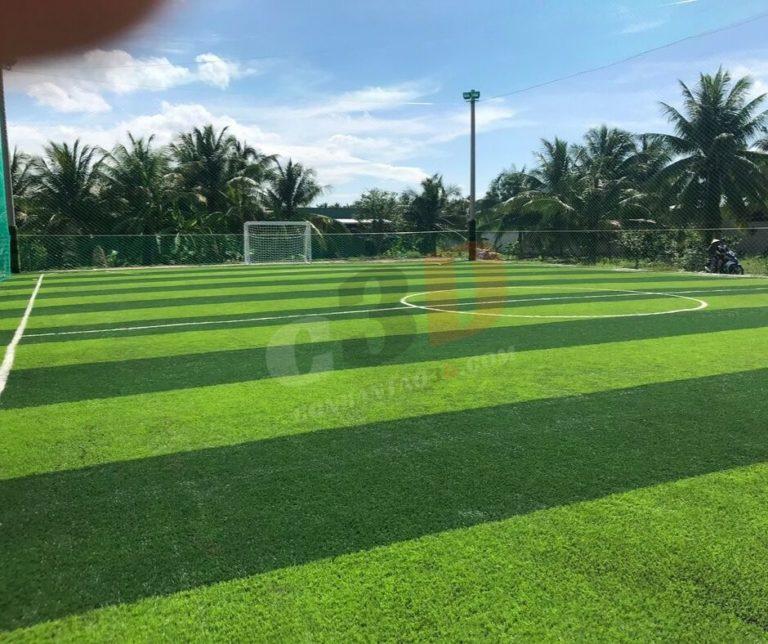 Thi công sân bóng đá tại Bến Tre