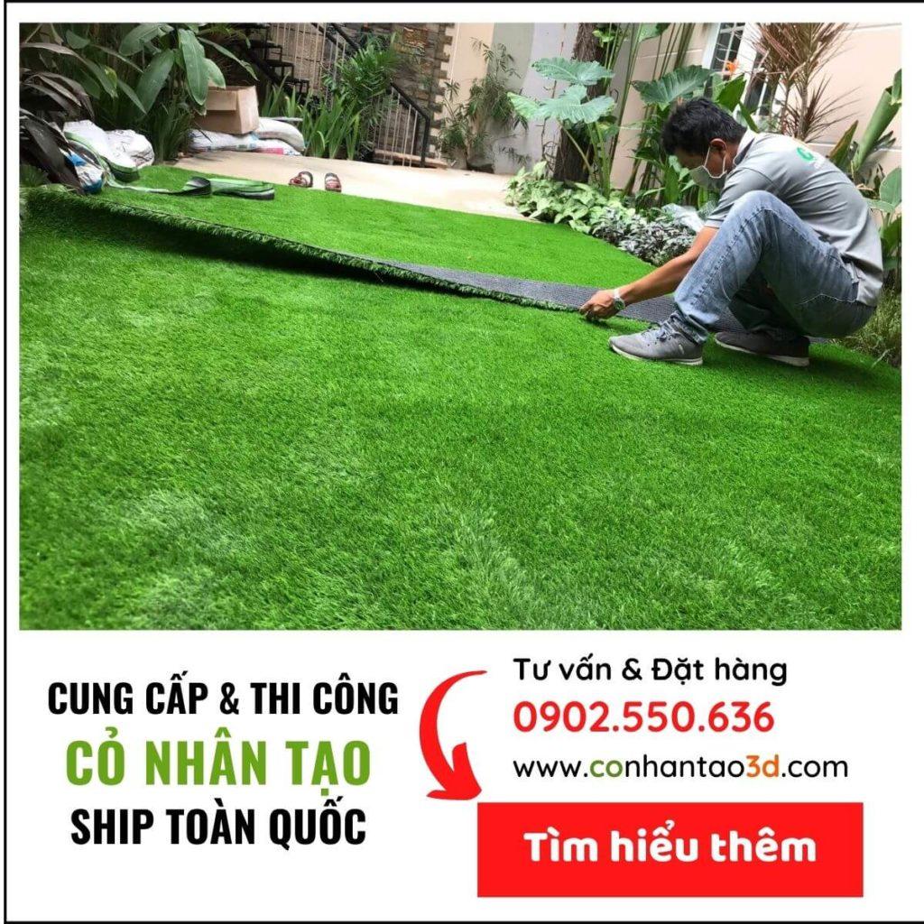 Thảm cỏ nhân tạo sân vườn banner